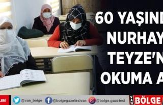 60 yaşındaki Nurhayat Teyze'nin okuma azmi