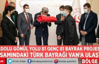 'Anadolu Gönül Yolu 81 Genç 81 Bayrak Projesi'...