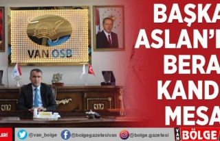 Başkan Aslan'dan Berat Kandili mesajı
