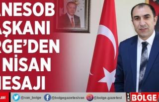 Başkan Berge'den 23 Nisan mesajı