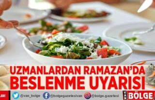 Uzmanlardan Ramazan'da beslenme uyarısı