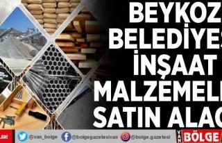 Beykoz Belediyesi inşaat malzemeleri satın alacak