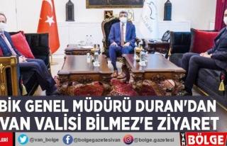 BİK Genel Müdürü Duran'dan Van Valisi Bilmez'e...