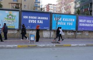 Van'da billboardlarda gülümseten uyarılar...