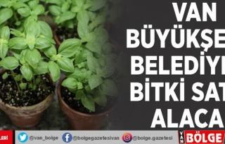 Van Büyükşehir Belediyesi bitki satın alacak