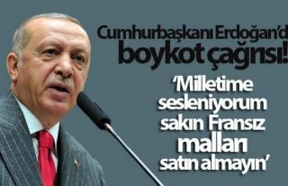 Erdoğan: Fransız mallarını almayın!