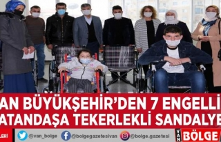 Van Büyükşehir'den 7 engelli vatandaşa tekerlekli...