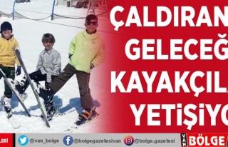 Çaldıran'da geleceğin kayakçıları yetişiyor