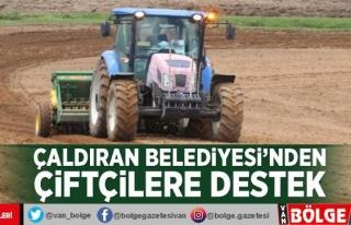 Çaldıran Belediyesi'nden çiftçilere destek