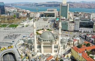 Taksim Camii açılışa hazırlanıyor