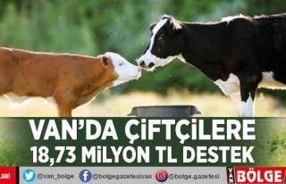 Van'da çiftçilere 18,73 milyon TL destek