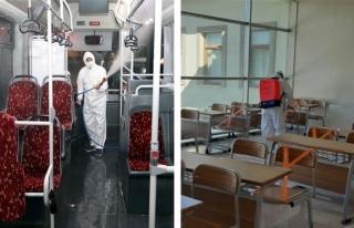 Büyükşehir'in dezenfekte çalışmaları sürüyor