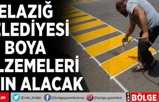 Elazığ Belediyesi boya malzemeleri satın alacak
