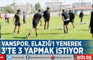 Vanspor, Elazığ'ı yenerek 3'te 3 yapmak...