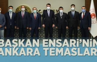 Başkan Ensari'den Bakanlıklara ziyaret