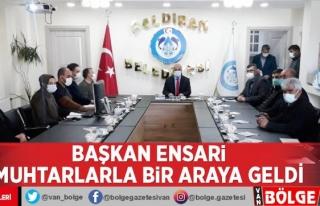 Başkan Ensari muhtarlarla istişare toplantısında...