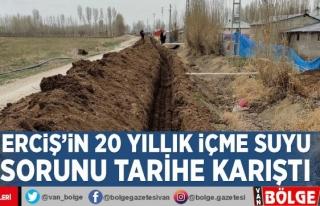 Erciş'in 20 yıllık içme suyu sorunu tarihe...