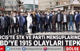 Erciş'te STK ve parti mensuplarından ABD'ye...