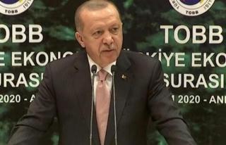 Erdoğan: Yüksek faizle üretim yapamayız