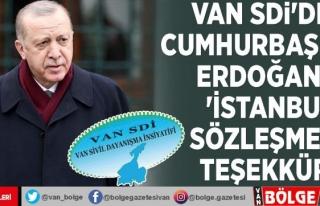 Van SDİ'den Cumhurbaşkanı Erdoğan'a...