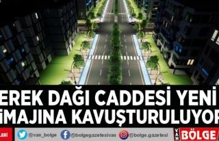 Erek Dağı Caddesi yeni imajına kavuşturuluyor