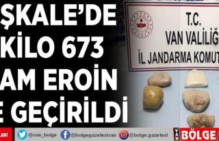 Başkale'de 7 kilo 673 gram eroin ele geçirildi