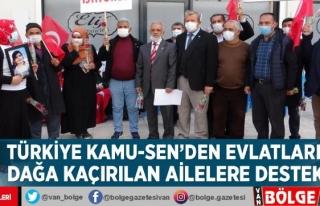 Türkiye Kamu-Sen'den evlatları dağa kaçırılan...
