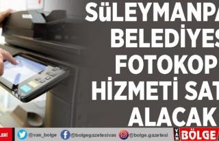 Süleymanpaşa Belediyesi fotokopi hizmeti satın...