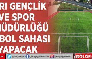 Ağrı Gençlik ve Spor İl Müdürlüğü futbol...