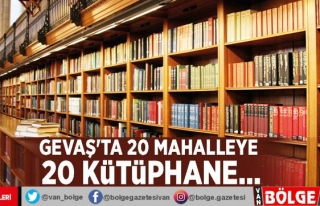 Gevaş'ta 20 mahalleye 20 kütüphane…