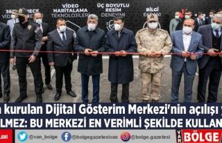 Van'da kurulan Dijital Gösterim Merkezi'nin...