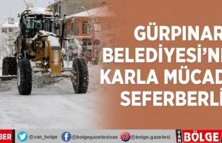 Gürpınar Belediyesi'nden karla mücadele seferberliği