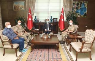 Tümgeneral Hacı İlbaş'ın, ziyaretleri sürüyor