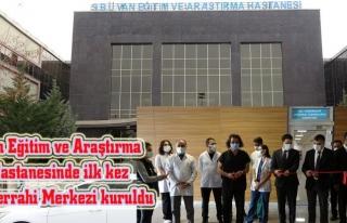 Van Eğitim ve Araştırma Hastanesi'nde mikro cerrahi...