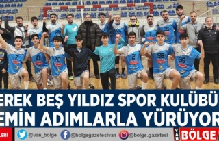 Erek Beş Yıldız Spor Kulübü emin adımlarla yürüyor
