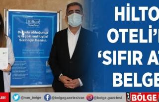 Hilton Oteli'ne 'Sıfır Atık' belgesi