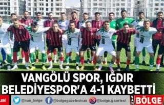Vangölü Spor, Iğdır Belediyespor'a 4-1 kaybetti