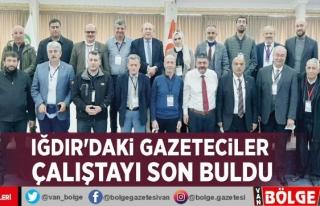 Iğdır'daki gazeteciler çalıştayı son buldu