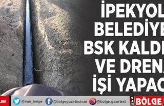 İpekyolu Belediyesi BSK kaldırım ve drenaj işi...