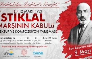Van'da, İstiklal Marşı'nın kabulü konulu yarışma...