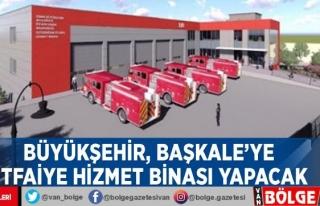 Büyükşehir, Başkale'ye itfaiye hizmet binası...