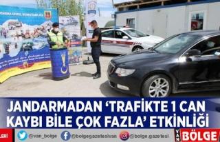 Jandarmadan 'Trafikte 1 can kaybı bile çok...