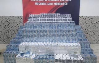 Jandarma ekiplerinden Başkale'de kaçak sigara operasyonu...