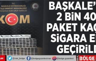 Başkale'de 2 bin 400 paket kaçak sigara ele...