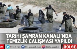 Tarihi Şamran Kanalı'nda temizlik çalışması