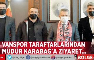Vanspor taraftarlarından Müdür Karabağ'a...