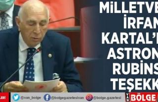 Milletvekili İrfan Kartal'dan astronot Rubins'e...