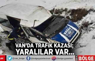 Van'da trafik kazası; yaralılar var…