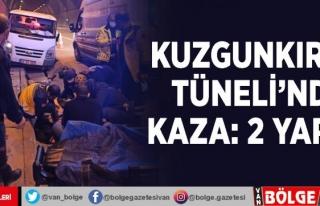 Kuzgunkıran Tüneli'nde kaza: 2 yaralı