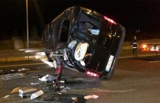 Van'a düğün için gelen araç Ankara'da kaza yaptı
